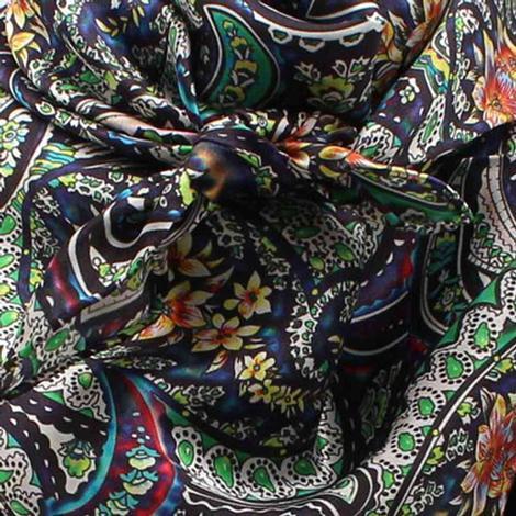 Wild Rags Blue Green Multi Paisley