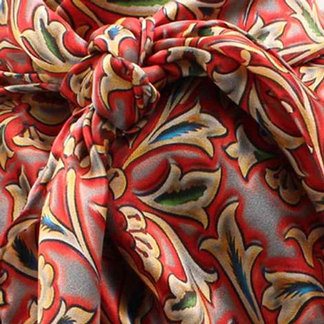Wild Rags Grey Red Floral Print