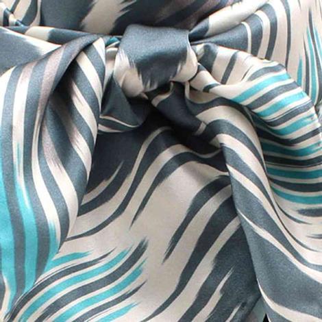Wild Rags Turquoise Chevron Print