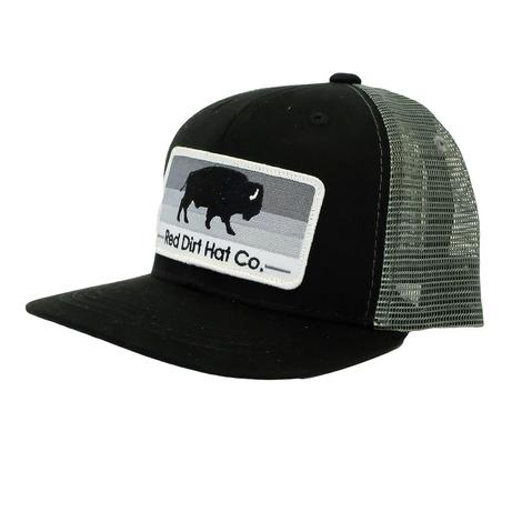 Red Dirt Hat Stoney Black Buffalo Youth Cap