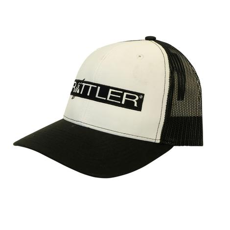 Rattler Rope White and Black Mesh Cap