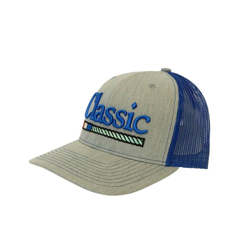 Classic Ropes Blue Grey Meshback Baseball Cap