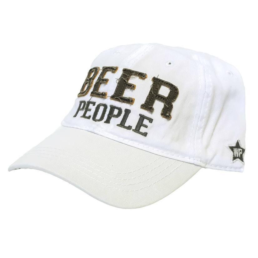 STT Beer People Cap - Grey or White WHITE