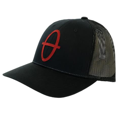 STT Black Meshback Cap With Red Pigskin Bar Nothing