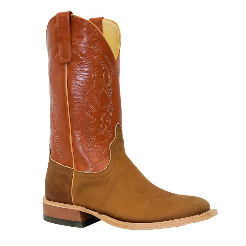 Anderson Bean Brown Big League Orange Pekoe Kidskin Men's Boots