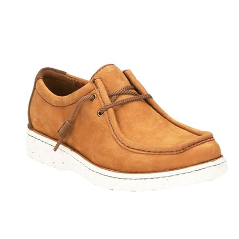 Justin Camel Nubuck Cowhide Lace Up Men's Shoes