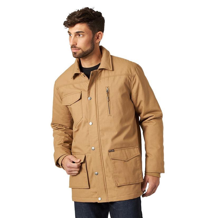 Wrangler Canvas Brown Plus Size Men's Barncoat