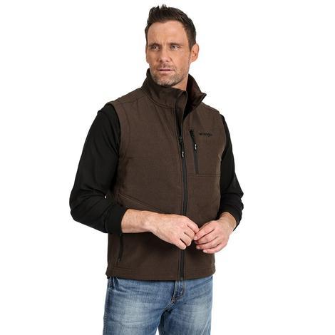 Wrangler Concealed Carry Brown Men's Plus Size Vest