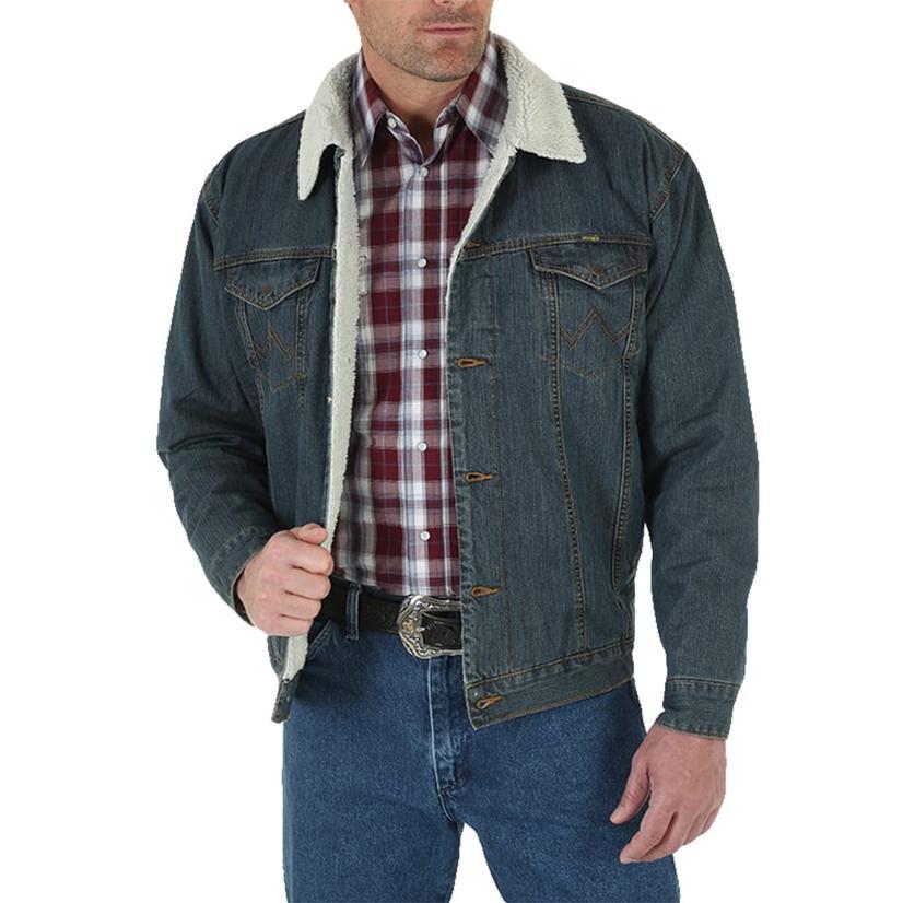 Wrangler Denim Sherpa Lined Men's Jacket