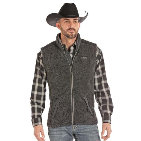 Powder River Grey Soft Fleece Men's Vest