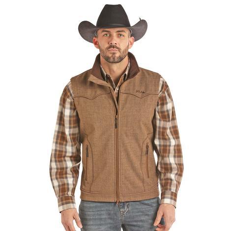 Powder River Brown Bonded Performance Zip Up Men's Vest