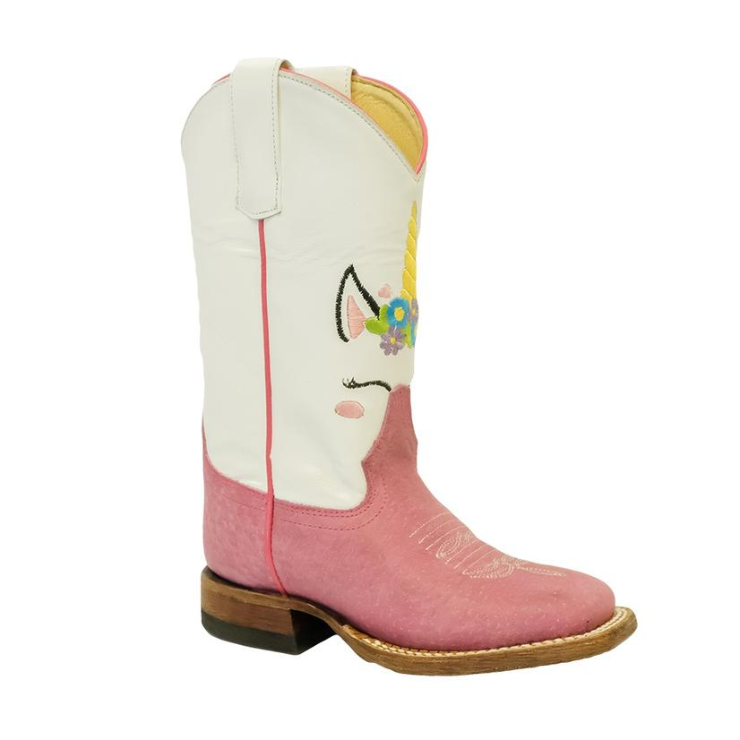 Macie Bean Pink Unicorn Kid Boots