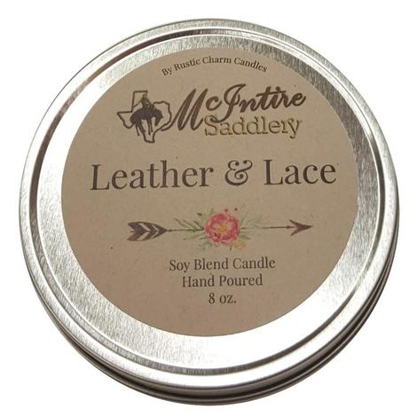 Miranda Mcintire Leather Lace Candle