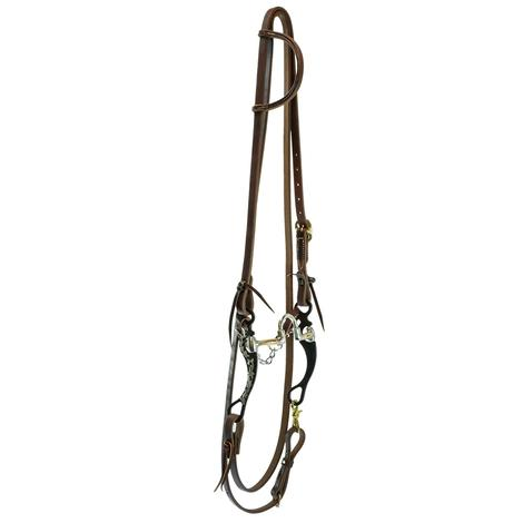STT Roping Rein Bridle Set w/ Black Floral Correction Bit