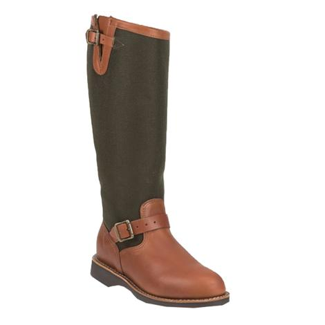 Chippewa Brown Expresso Viper Cloth Women's Snake Boots