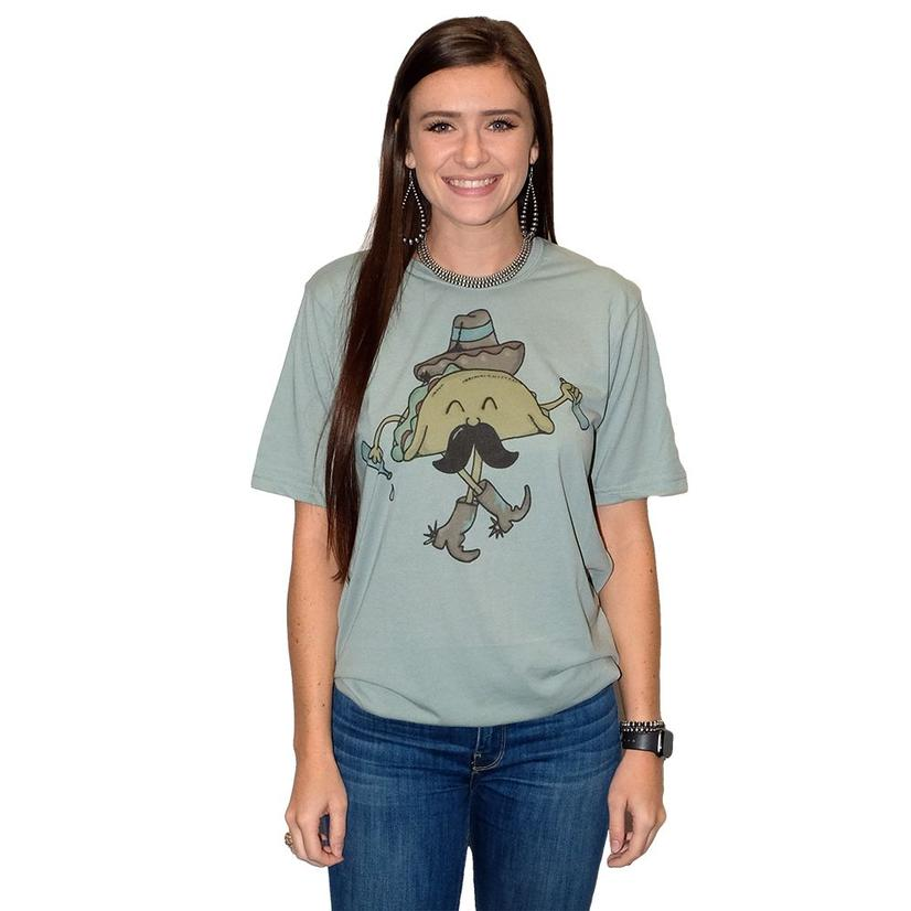 Walking Taco Sage Green Women's Tee