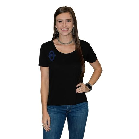 Classy South Texas Tack Emblem Tee with Genuine Python