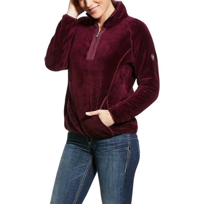 Ariat Dulcet Grapewine Quarter Zip Soft Fleece Women's Pullover