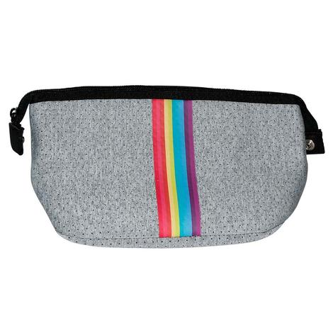 Haute Shore Erin Cosmetic Light Grey Rainbow Bag