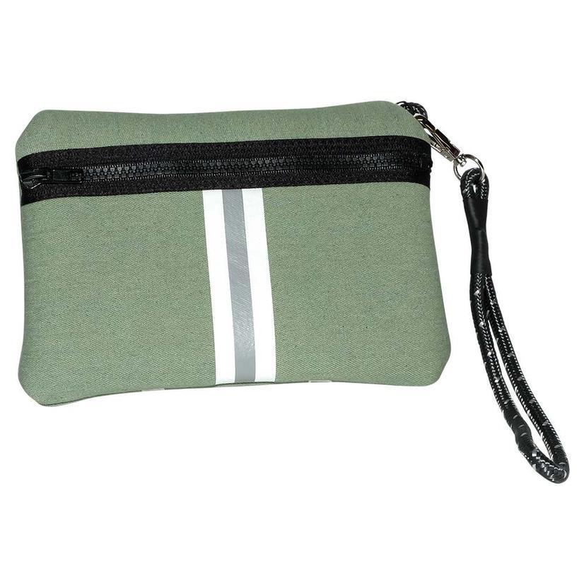 Haute Shore Leo Wristlet Move Green Denim Bag