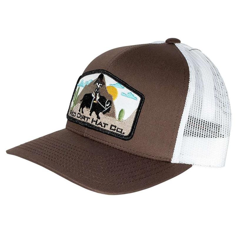 Red Dirt Hat Jango Rides Again Brown White Meshback Cap