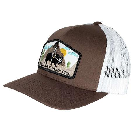 Red Dirt Hat Jango Rides Again Brown White Meshback Cap