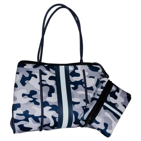 Haute Shore Greyson Tote Fall Monday Blue Camo Bag
