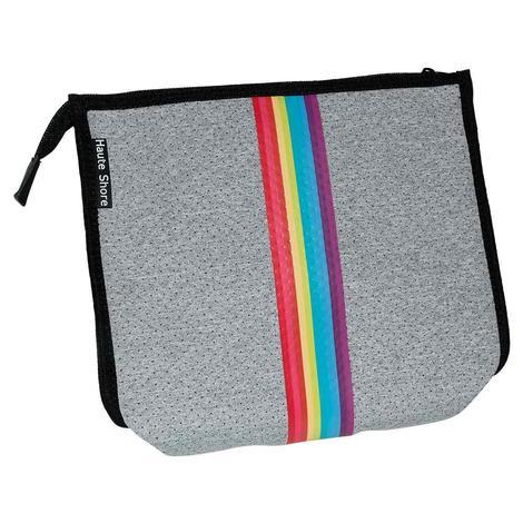 Haute Shore Mark Cross Body Smile Grey Rainbow Stripe Bag
