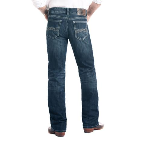Rock and Roll Cowboy Double Barrel Bootcut Dark Vintage Wash Men's Jeans