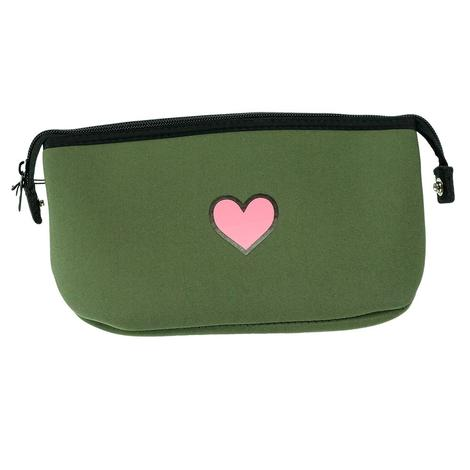 Haute Shore Erin Cosmetic Olive Pink Star Bag