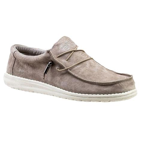 Hey Dude Wally Suede Sterling Men's Shoes