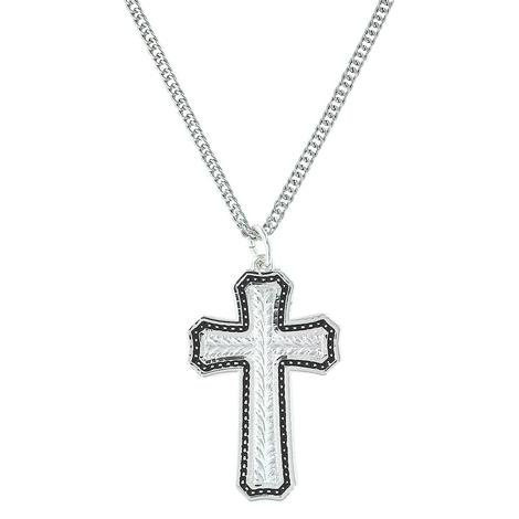 Montana Silversmith Large Silver Filigree Cross Necklace