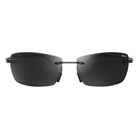 BEX Fynnland X Matte Black Titanium Live Grey Lens Sunglasses