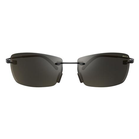 BEX FynnlandX Matte Black Titanium Brown Lens Sunglasses