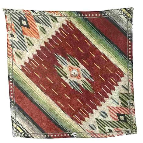 Topsy Navajo Red Green Print Wild Rag
