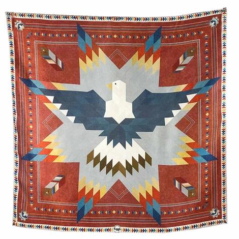 Soaring Eagle Red Blue Print Wild Rag