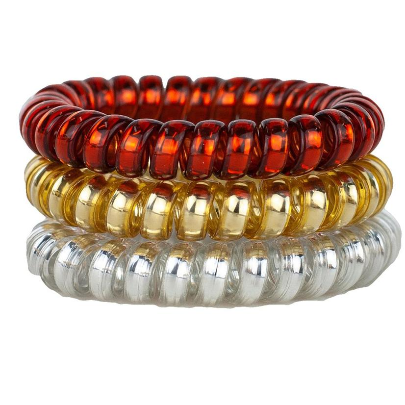 Hotline Hair Ties Fire And Gold Set
