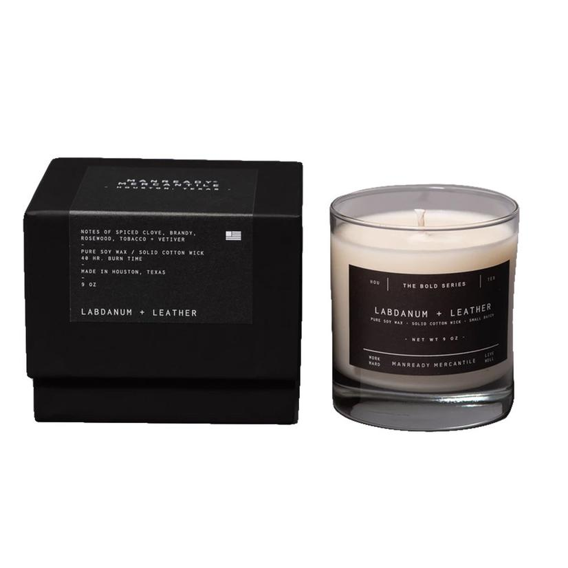 Madnready Mercantile Bold Series Labdanum And Leather Scented Candle 9oz