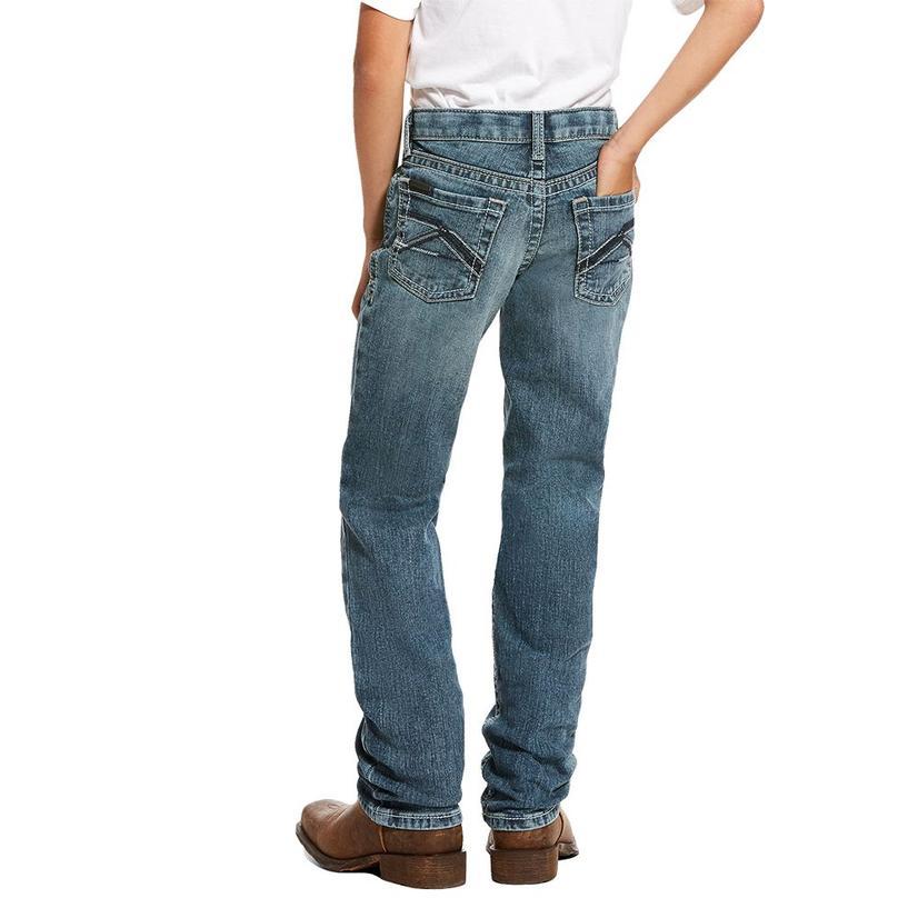 Ariat B5 Slim Straight Leg Drifter Wash Boy's Jeans