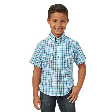 Wrangler Riata Assorted Plaid Short Sleeve Button Down Boy's Shirt