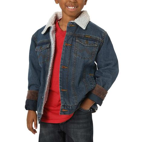 Wrangler Sherpa Lined Denim Boy's Jacket