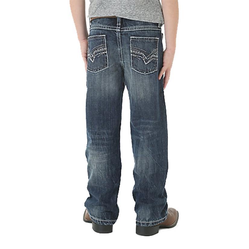 Wrangler 20x No.42 Vintage Bootcut Canyon Lake Wash Boy's Jeans - Size 8- 18