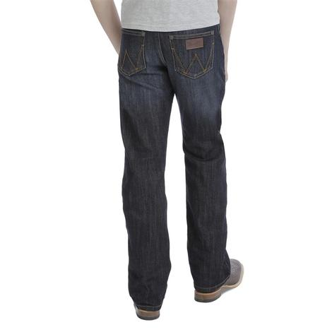Wrangler Retro Fit Relaxed Anders Wash Bootcut Boy's Jeans - Size 8-16