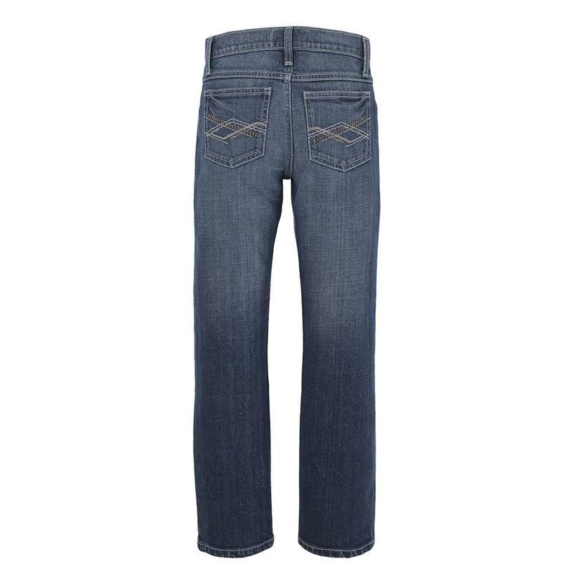 Wrangler 20x No.44 Slim Straight Lipan Wash Boy's Jeans - Size 4- 7