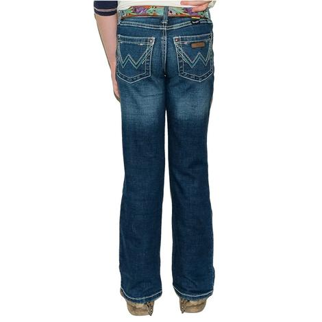Wrangler Everyday Griffin Wash Bootcut Girl's Jeans - Size 4-14