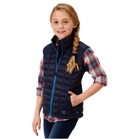 Roper Blue Down-Like Poly Fill Girl's Vest
