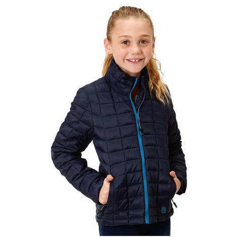 Roper Blue Down-Like Poly Fill Girl's Jacket