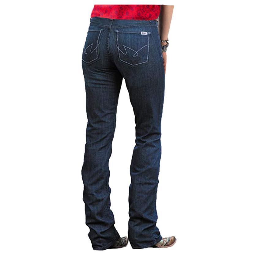 Cruel Girl Hannah Moderate Rise Slim Boot Cut Dark Wash Women's Jeans