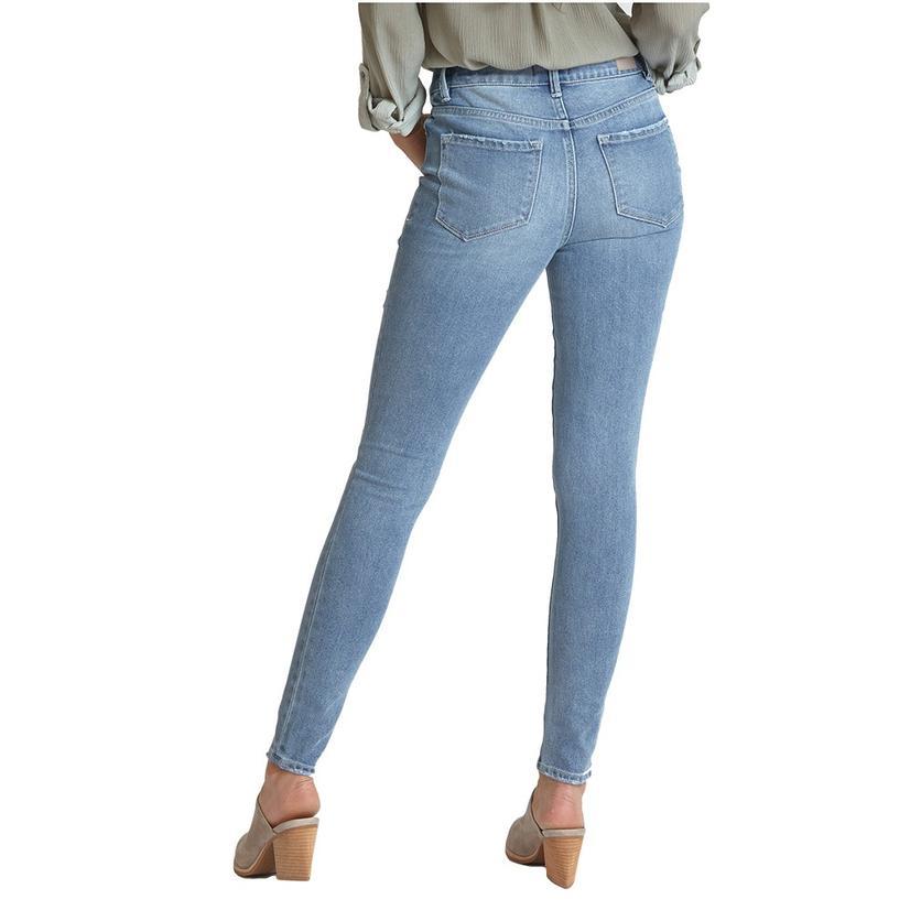 Dear John Denim Gisele Distressed Brixton Wash High Rise Women's Skinny Jeans