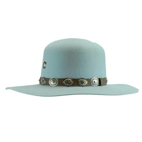 Charlie 1 Horse Saguaro Baby Blue Felt Hat